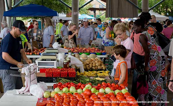 Little Rock farmers' market in the River Market pavillion