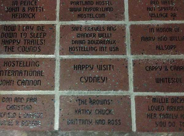 engraved bricks, inside