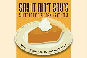 Sweet potato pie contest on Sunday, December 3